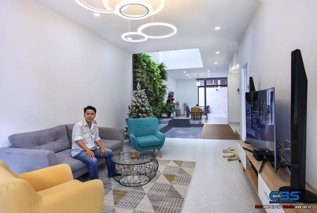 Hình chụp thực tế nhà phố 7m x 24m tuyệt đẹp theo phong cách hiện đại, tối giản 1