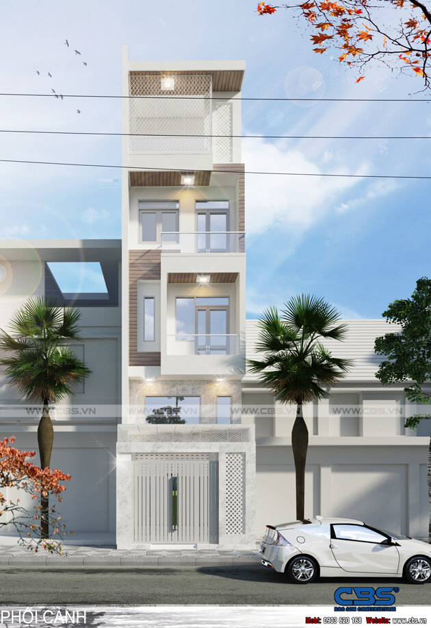 Mẫu thiết kế nhà phố hiện đại đẹp diện tích 4m x 16m 1