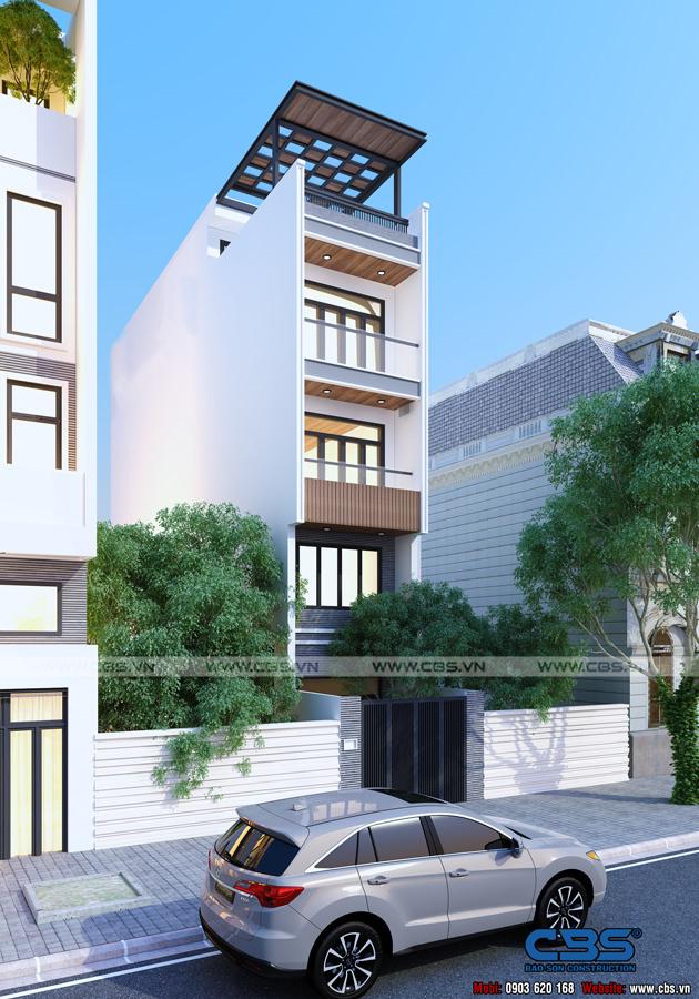 Mẫu thiết kế nhà phố hiện đại 4m x 18m đẹp ngất ngay với gỗ tự nhiên làm chủ đạo 2