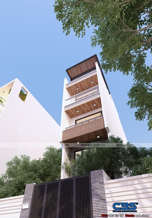 Mẫu thiết kế nhà phố hiện đại 4m x 18m đẹp ngất ngay với gỗ tự nhiên làm chủ đạo 1