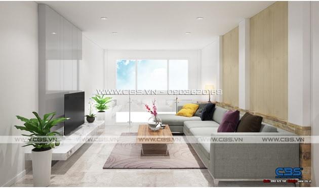 Phòng khách sang trọng với sofa xám làm điểm nhấn 9