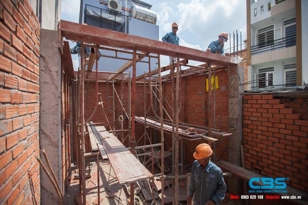 Thi công xây dựng mới nhà anh Hải, Quận 6