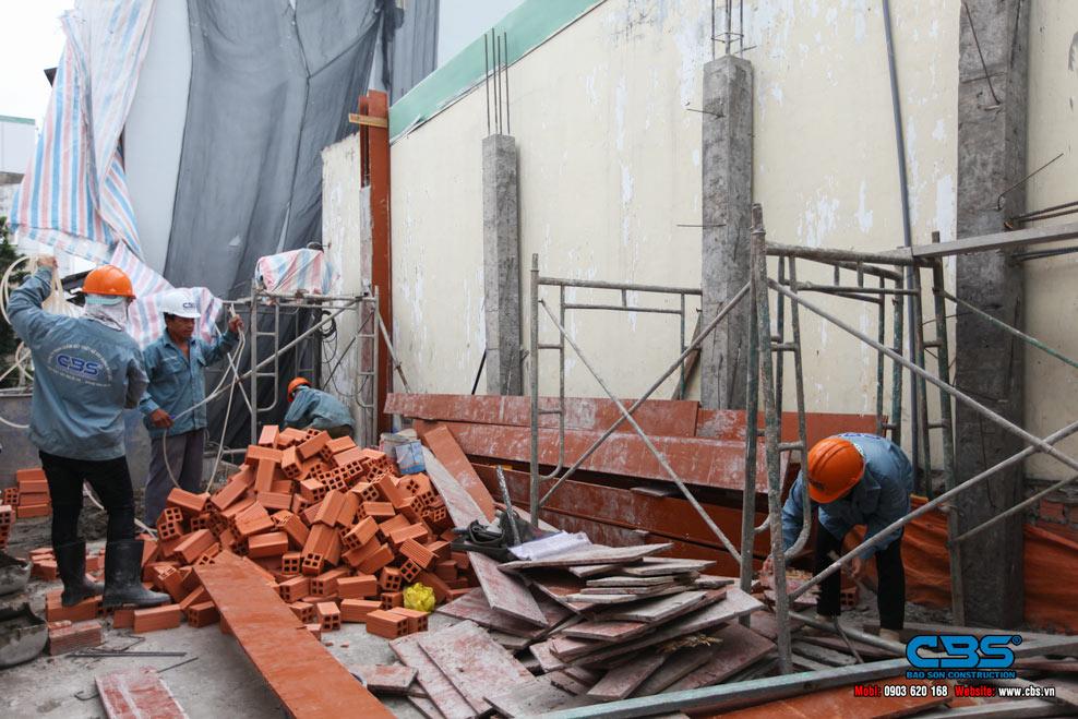 Thi công xây dựng mới nhà anh Hiệp
