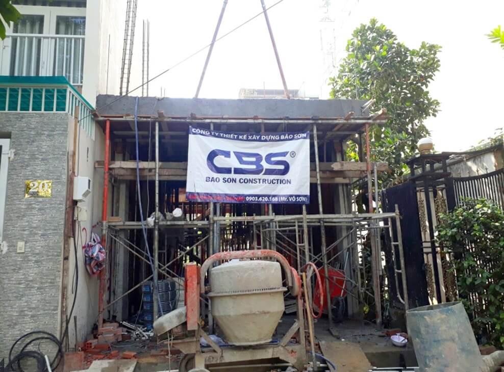 Thi công xây dựng mới nhà anh Nhật Quận 9