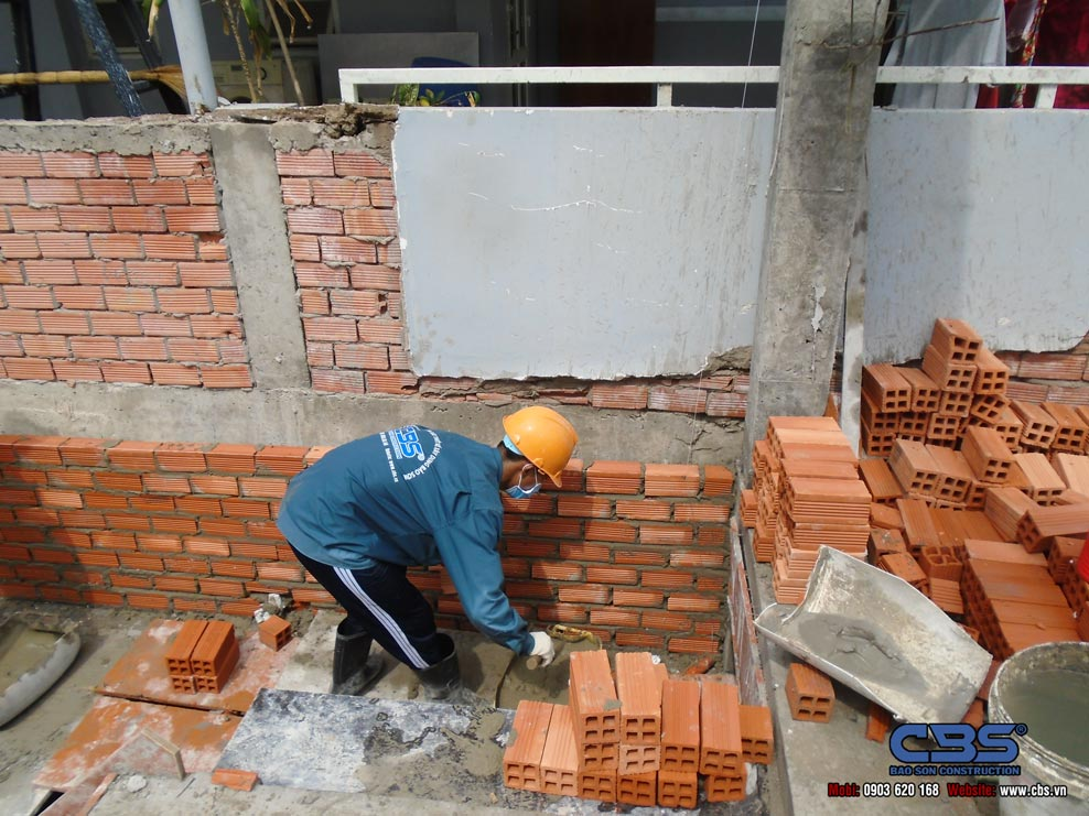 Thi công xây dựng mới nhà anh Vũ