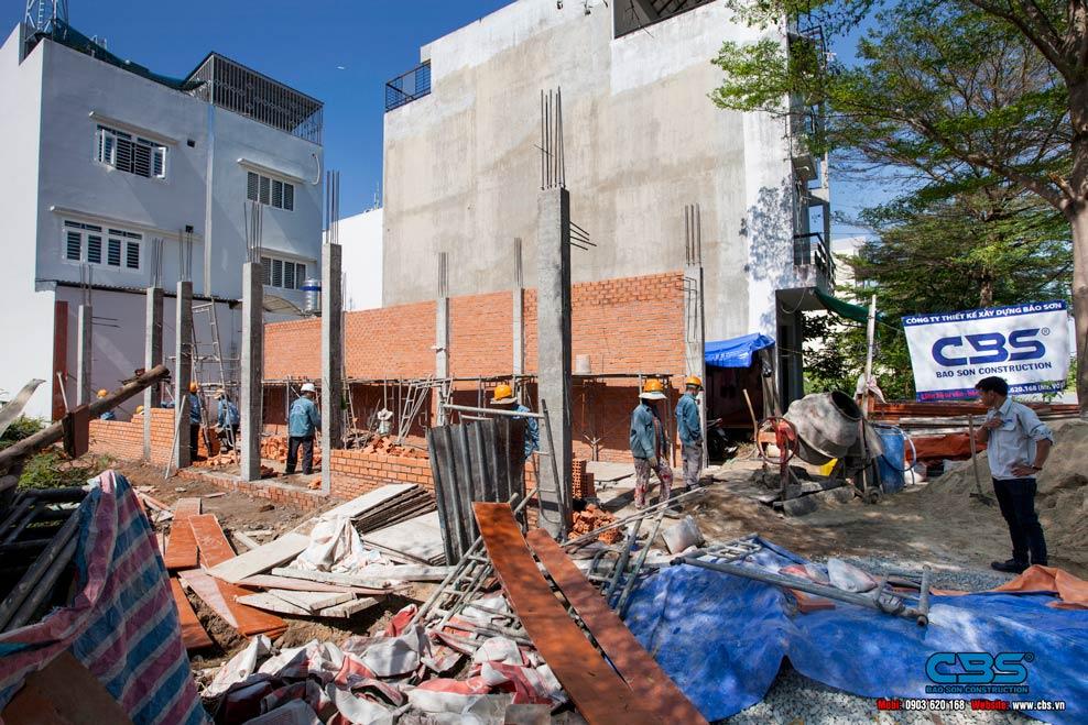 Thi công xây dựng mới nhà chị Bảy
