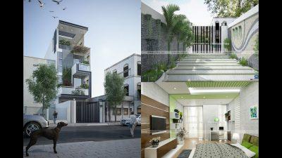 Thiết kế nhà phố đẹp 4 x 25,3m – Nguyễn Hữu Tiến, Tân Phú