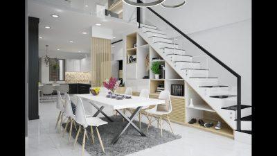 Thiết kế nhà phố hiện đại đẹp 5 tầng diện tích 4m x 15m