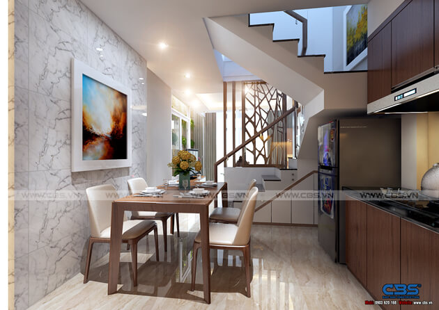 Mẫu thiết kế nhà tận dụng nội thất cũ nhưng vẫn đẹp sang 3,4m X 10m 5