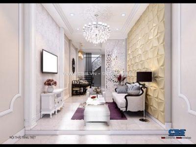 Thiết kế nội thất nhà phố 3,2m x 13m