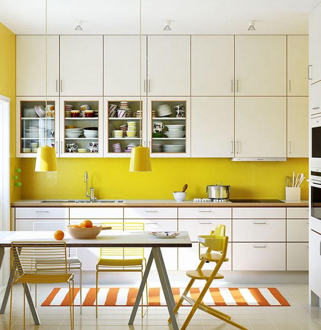 12 ý tưởng trang trí bếp ăn bằng màu vàng chanh đẹp mắt 3