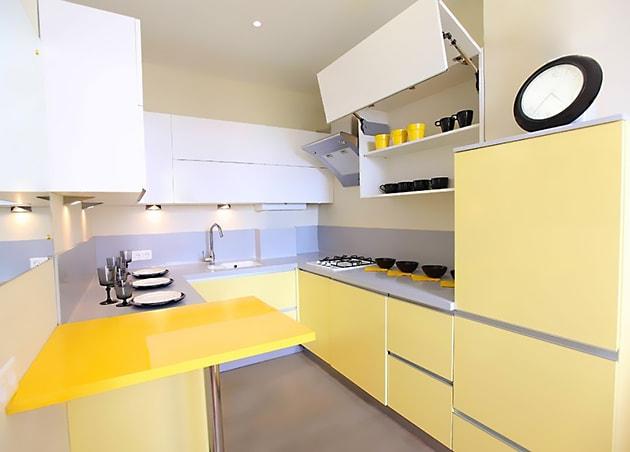 12 ý tưởng trang trí bếp ăn bằng màu vàng chanh đẹp mắt 6