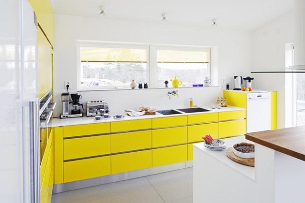 12 ý tưởng trang trí bếp ăn bằng màu vàng chanh đẹp mắt 7