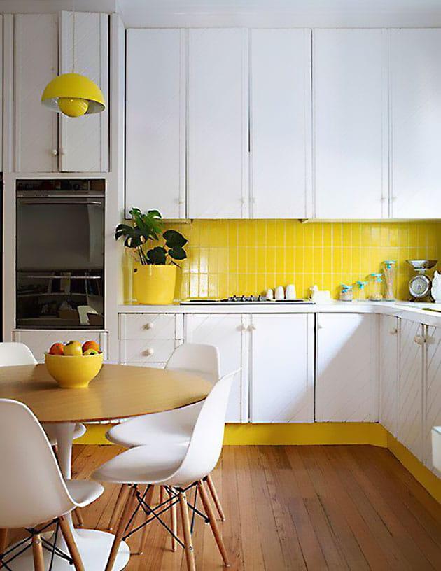 12 ý tưởng trang trí bếp ăn bằng màu vàng chanh đẹp mắt 10