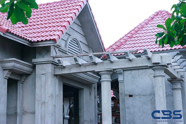 Hình ảnh thi công xây dựng biệt thự gia đình chú Tám Mẫn 12
