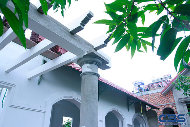 Hình ảnh thi công xây dựng biệt thự gia đình chú Tám Mẫn 13