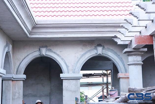 Hình ảnh thi công xây dựng biệt thự gia đình chú Tám Mẫn 16