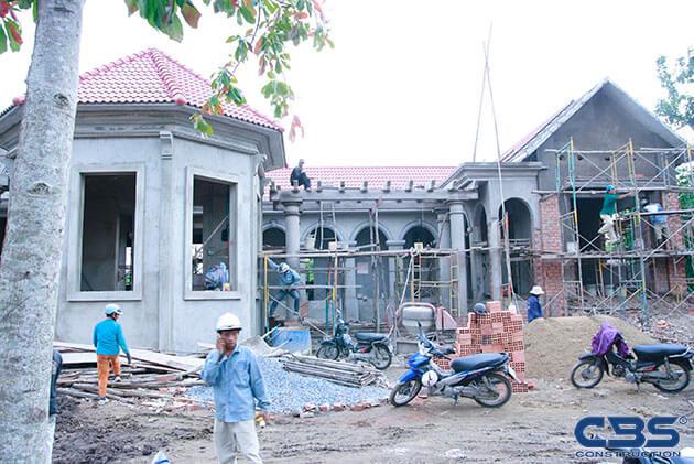 Hình ảnh thi công xây dựng biệt thự gia đình chú Tám Mẫn 17