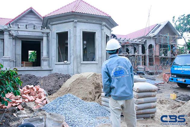 Hình ảnh thi công xây dựng biệt thự gia đình chú Tám Mẫn 18