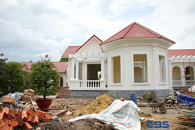Hình ảnh thi công xây dựng biệt thự gia đình chú Tám Mẫn 19