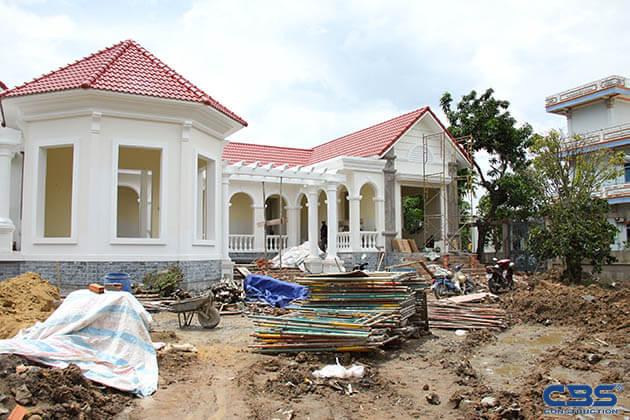 Hình ảnh thi công xây dựng biệt thự gia đình chú Tám Mẫn 20