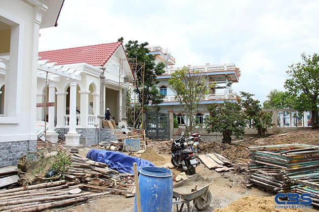 Hình ảnh thi công xây dựng biệt thự gia đình chú Tám Mẫn 21