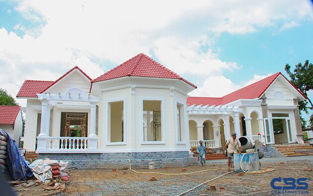 Hình ảnh thi công xây dựng biệt thự gia đình chú Tám Mẫn 22