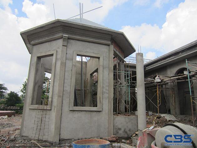 Hình ảnh thi công xây dựng biệt thự gia đình chú Tám Mẫn 5
