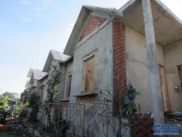 Hình ảnh thi công xây dựng biệt thự gia đình chú Tám Mẫn 6