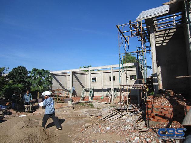 Hình ảnh thi công xây dựng biệt thự gia đình chú Tám Mẫn 8