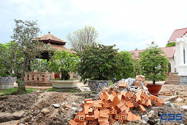 Hình ảnh thi công xây dựng biệt thự gia đình chú Tám Mẫn 9