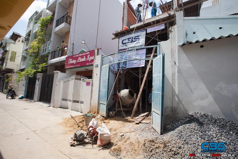 xây dựng nhà mới của cô Hương