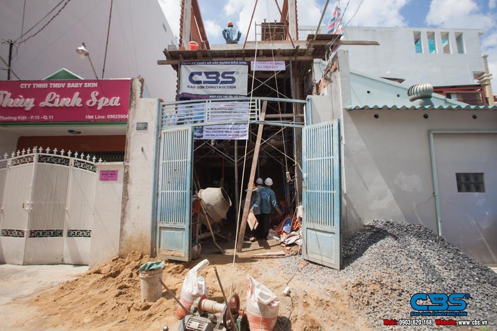 xây dựng nhà mới cô Hương