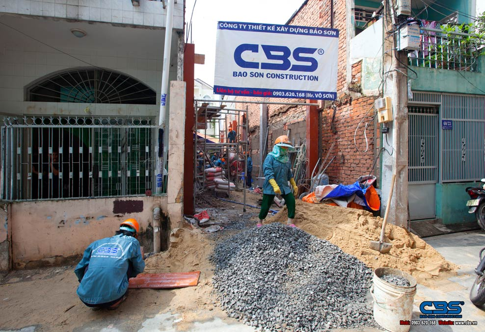Xây dựng mới nhà anh Kiệt – Tân Bình
