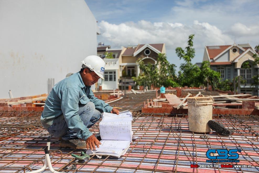 Xây dựng mới nhà anh Phước, chị Thảo, Quận 7