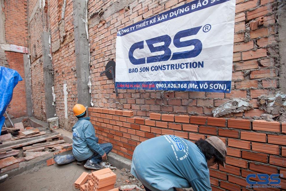 Xây dựng mới nhà anh Thái Đồng Tiến, Tân Bình