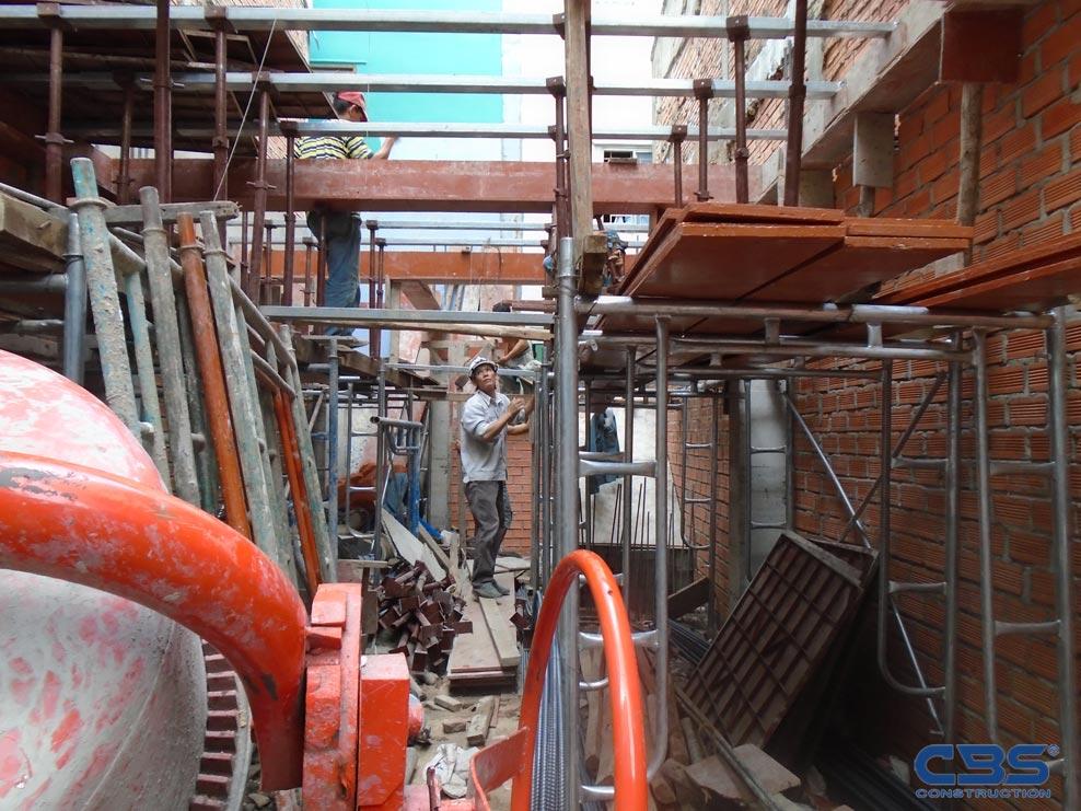 Xây dựng mới nhà anh Tòng, CMT8, Quận 10