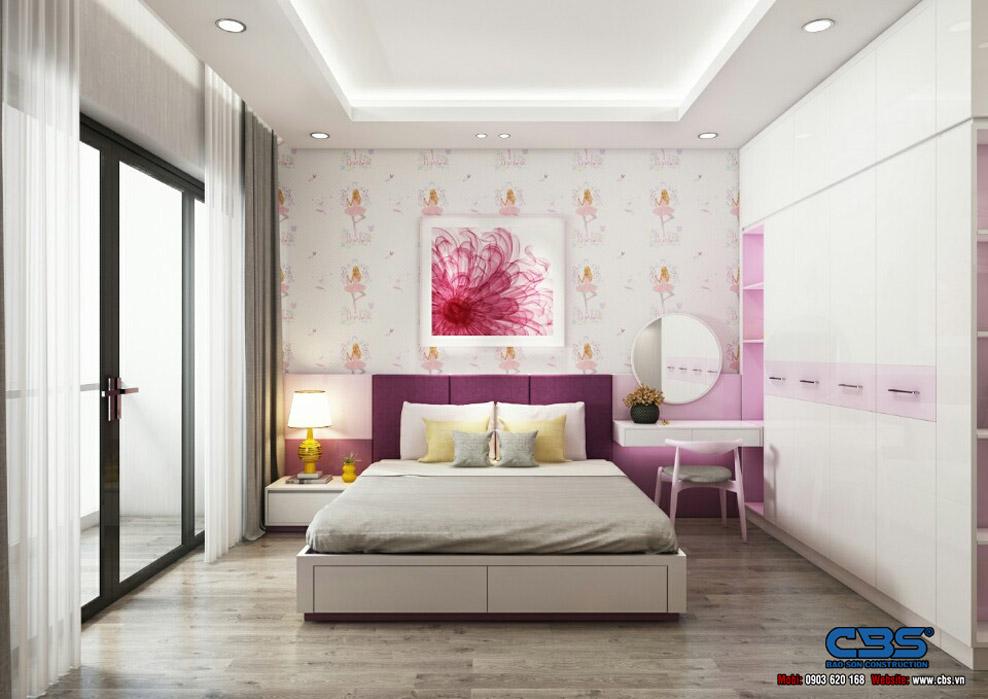 mẫu thiết kế nhà cấp 4 có 2 phòng ngủ