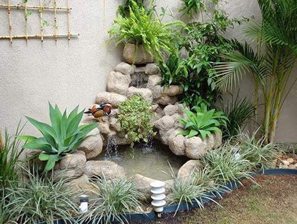 cách làm tiểu cảnh sân vườn