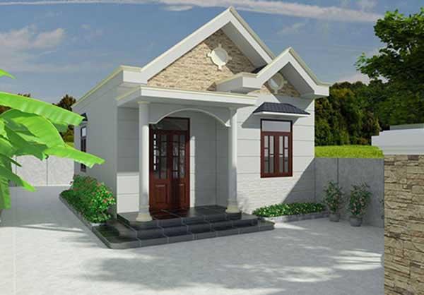 nhà mặt tiền mái thái
