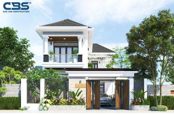 Mẫu nhà 2 tầng giá 500 triệu