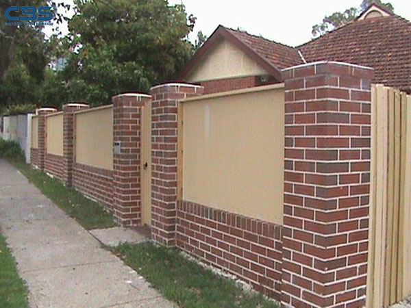 Mẫu tường rào xây gạch đẹp