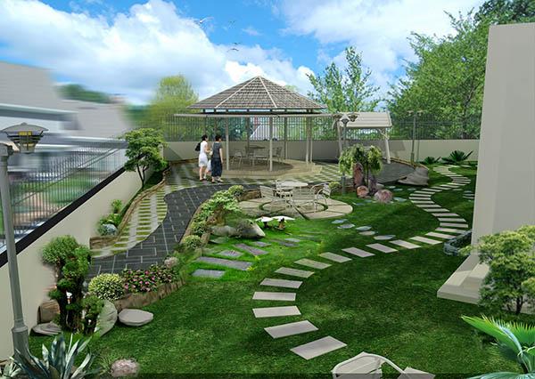 phong thủy tiểu cảnh sân vườn