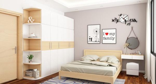 thiết kế nội thất phòng ngủ 15m2