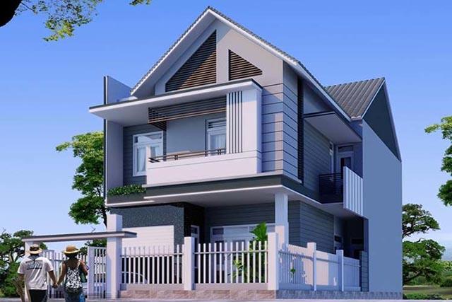 xây nhà 2 tầng giá 700 triệu